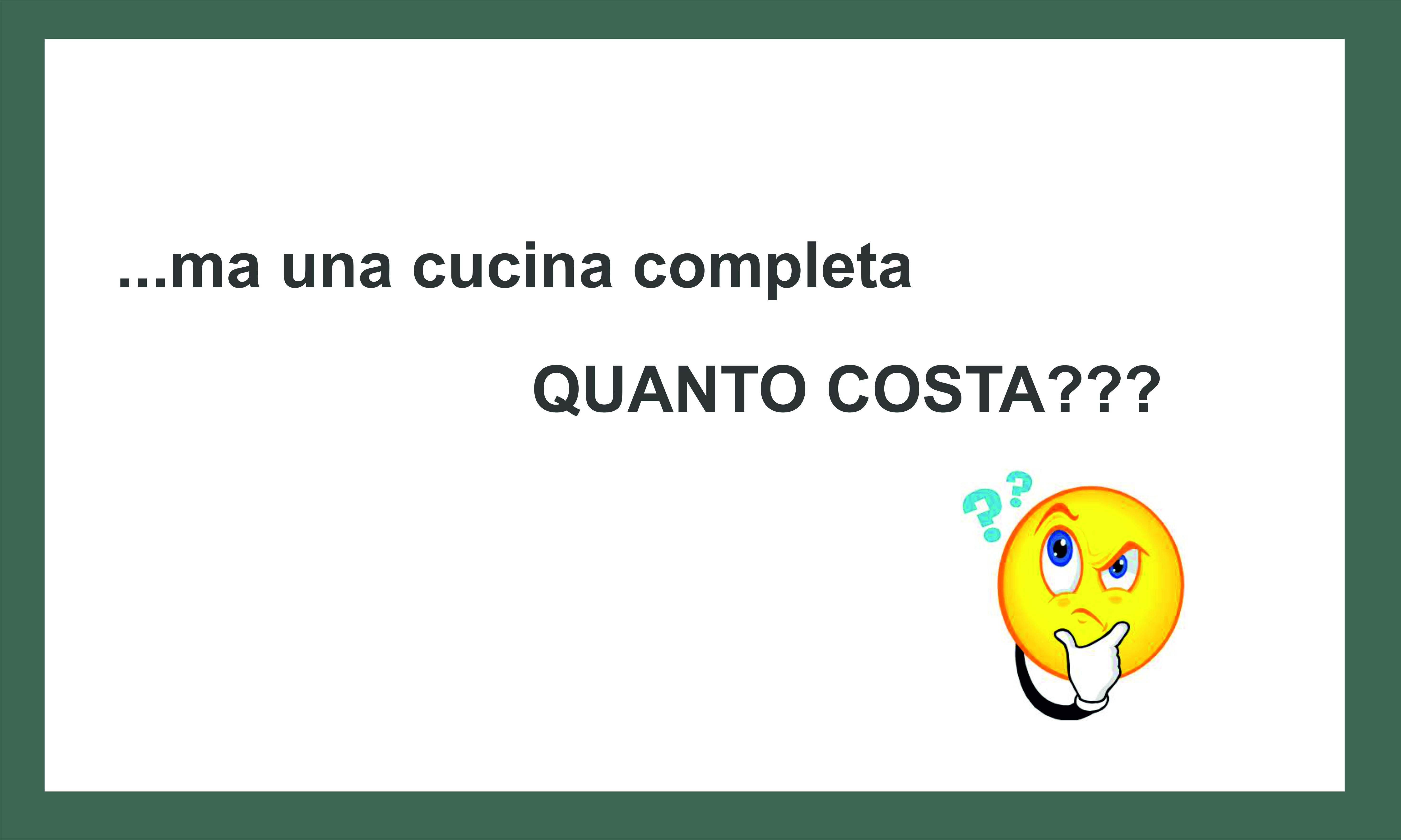 UNA CUCINA QUANTO COSTA SECONDO 4,50 (SALTO IMMAGINE ...