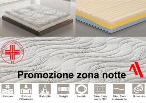 Promozione zona notte con materasso a zone differenziate