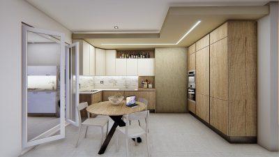 Come creare un'area cucina living dividendo l'ambiente in tre zone