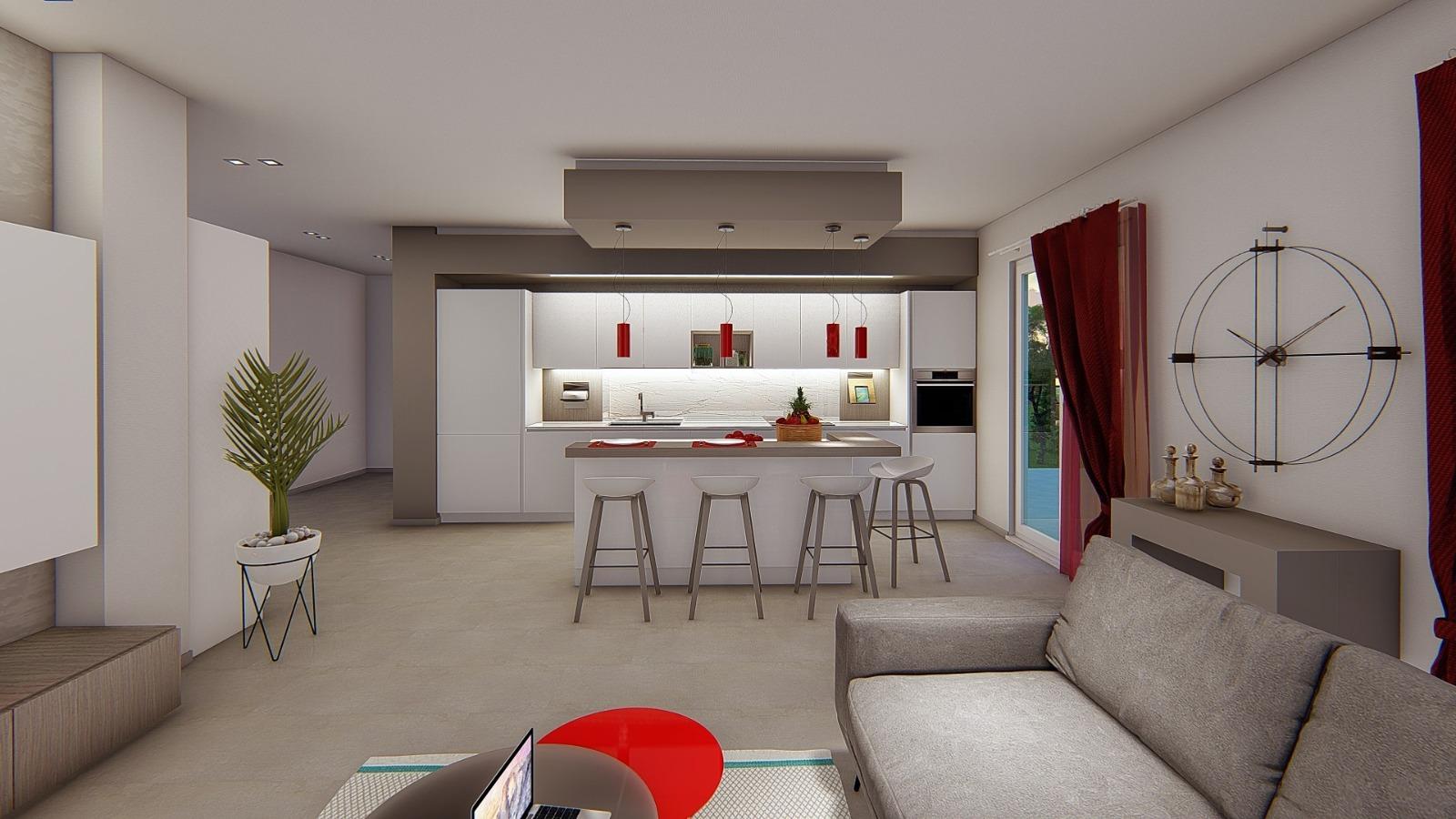 Cucina e Living in open space