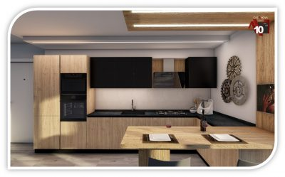 Cucine moderne effetto legno