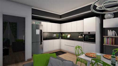 cucina con colori a contrasto 2-min